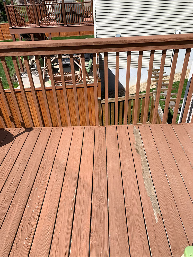 Deck Renewal - before